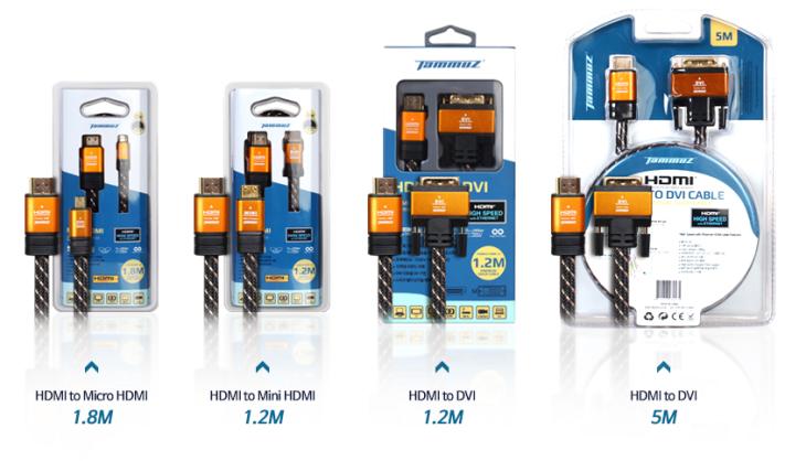 '타무즈 HDMI 2.0 프리미엄 골드 케이블 3종을 출시했다. '